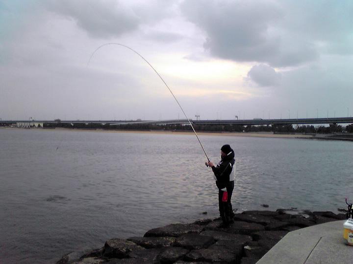 雨の日の釣り